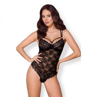 Боди Obsessive 860-TED-1 teddy black S/M