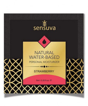 Пробник Sensuva - Natural Water-Based Strawberry (6 мл)